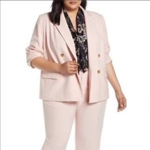 Rachel Roy Collection Blush Double Breasted Jacket